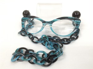 アビステEYE-Bi(アイビ)シニアグラス 品番:7150020 カラー:ブルー レンズ度数:2.0