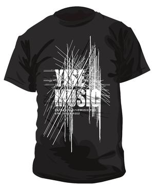《YISE-MUSIC》スタッフTシャツ  BLACK