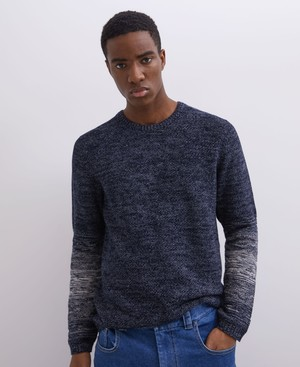 COMBINED COTTON CREW NECK SWEATER [153041194111]