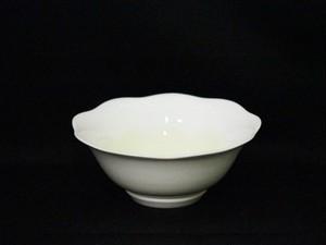 【井上康徳作】白磁黄釉波文 鉢(小)