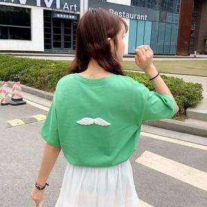 【トップス】夏新作韓国風ルーズ半袖ラウンドネックTシャツ