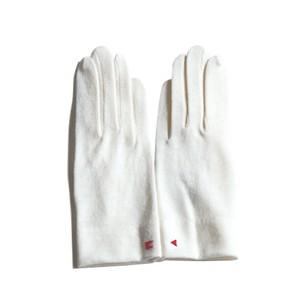 佩 手袋(C/#01 オフホワイト) ウール100% 手が細くキレイに見える