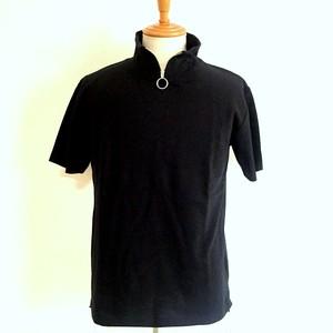 Cotton Sheer Soccer Rib Top Tee Black