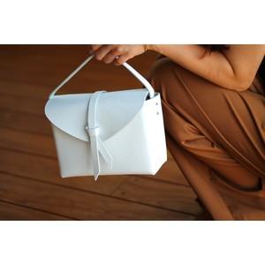 2way leather box bag / 2way レザーボックスバッグ #white
