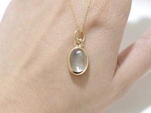 K10YG ムーンストーンのネックレス (ビルマ産)