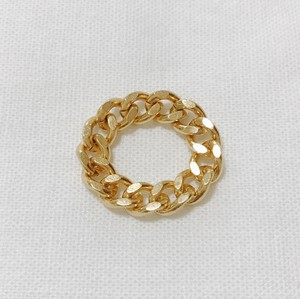 Chiro gold chain ring