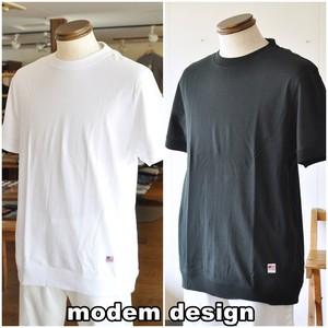 MODEMDESIGN モデムデザイン 半袖スウェットタイプTシャツ 半袖Tシャツ カットソー S-3