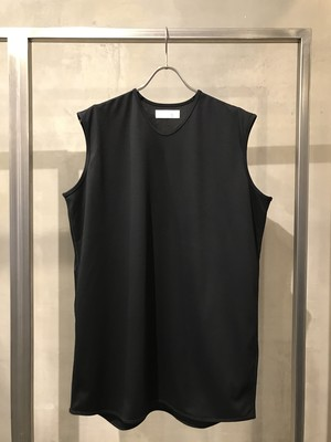 T/f supima cotton ponte fabric sleeveless top - black