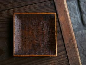 木工 高室久志 5寸角皿
