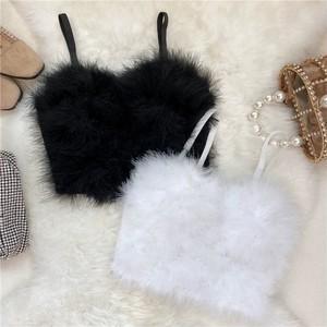 volume fur bra top