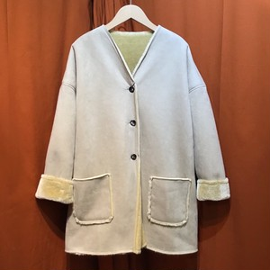 Lilou&Lily : ECOPEL SHEEP SKIN COAT   Color : Ivory