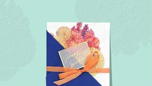 ブーケのグリーティングカード/ LISBOA
