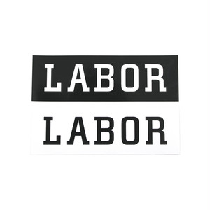 LABOR LOGO STICKER
