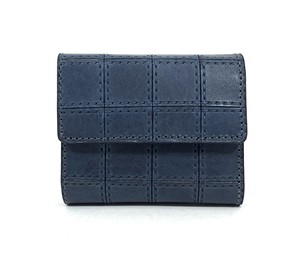 RE.ACT Stitch Indigo Three Fold Wallet