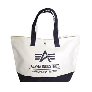 アルファインダストリーズ ALPHA INDUSTRIES トートバッグ メンズ レディース 40105-NABK ベージュ ブラック 国内正規