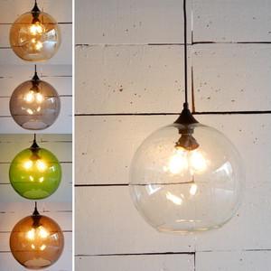 TOPANGA ガラスボール2灯ペンダントランプ 全5色