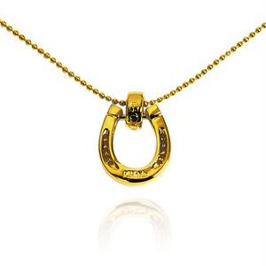 【送料無料/ギフト包装無料】Gold Horse Shoe Necklace Top【品番 20A2001】
