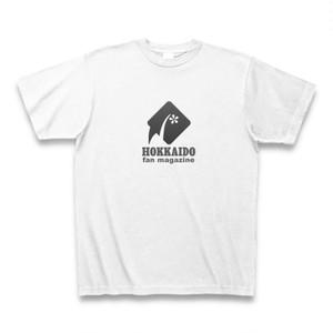 北海道ファンマガジンロゴTシャツ(白地・黒マーク)