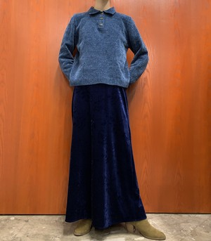 1990s ALFRED DUNNER mole knit sweater with collar 【PS】