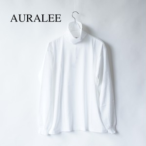 AURALEE/オーラリー ・LUSTER PLATING HI NECK L/S TEE