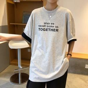 ルーズロゴプリントTシャツ 2413