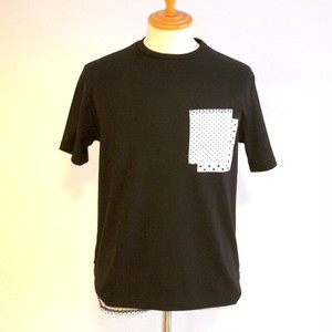 Stretch Smooth Pocket-Design Tee Black