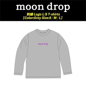 【moon drop】刺繍 Logo L/S T-shirts
