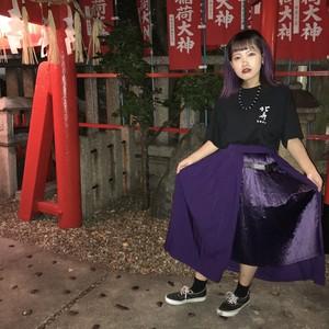 【ゆびが1ぽん】アシメプリーツスカート