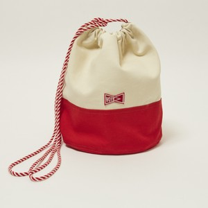 'KINCHAKU'CANVAS POUCH M - RED