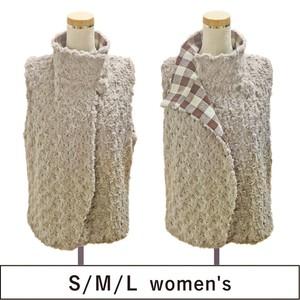 リバーシブルで着られるボアベスト SML