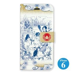 iPhone6用ケースパカスタンド 「鬼灯の冷徹」鳥獣人物鬼画柄【送料無料】