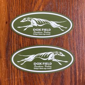 DOX FIELD ステッカー ( MOSS-GREEN:左右2枚セット )