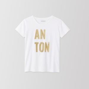 ANTON CREW NECK TEE (gold) TNH19100-03
