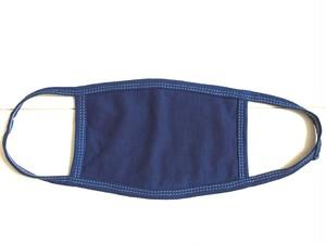 ◆100%自然素材 天然灰汁発酵建て 藍染◆ 竹布コットン マスク