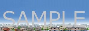 ジオラマ用背景画 住宅街