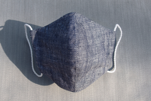 Denim linen mask
