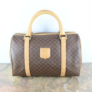 OLD CELINE MACADAM PATTERNED BOSTON BAG MADE IN ITALY/オールドセリーヌマカダム柄ボストンバッグ