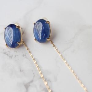 Twist earrings カイヤナイト