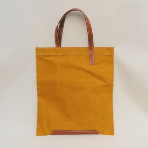 Paraffin canvas flatbag MUSTARD