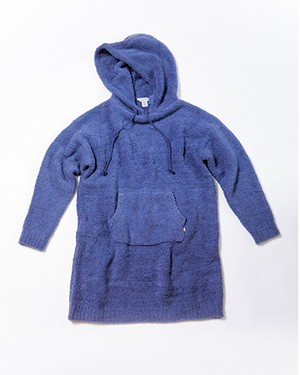 THE ULTIMATE COZY HOODED TUNIC/NAVY HEATHER