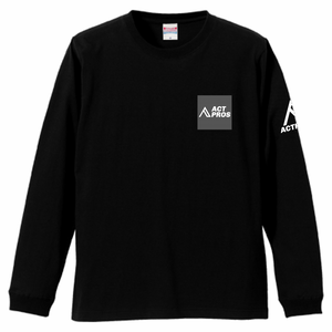 【UNISEX】ACTPROS スクエアロゴ 5.6oz 長袖Tシャツ(1.6インチリブ)【5colors】