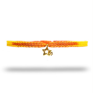 【無料ギフト包装/送料無料/限定】K18 Gold Indian Stella Anklet YellowOrange【品番 20S2004】