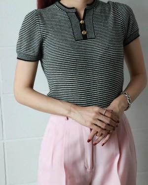 Chanel cashmere border sweater