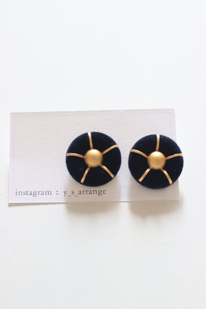 NY Button  Earrings