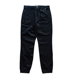 P01(PLAY DESIGN) / PLAY RIB PANTS TST/ BLACK