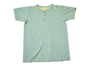 スマートスパイス・日本製 ヘンリーネック Tシャツ アンティークグリーン