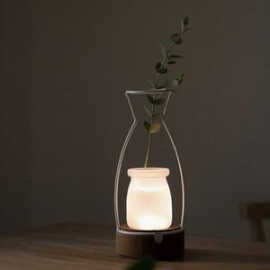 cercle vase LED room light / サークル ベース ルームライト 花瓶 造花 照明 韓国 北欧
