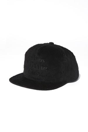 CHAOS FISHING CLUB LOGO CORDUROY CAP BLACK