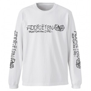 "Addiction KUSTOM THE LIFE LONG SLEEVE TEE ""C/S DICE"" WHITE アディクション 長袖Tシャツ"