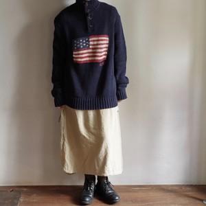 Polo by Ralph Lauren Cotton Sweater / ラルフローレン フラッグ柄 コットン セーター